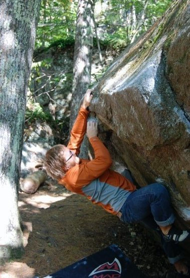 Rock Climbing Photo: Starting into the crux! Sloppers!