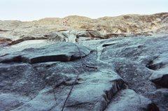 Rock Climbing Photo: Atop P1