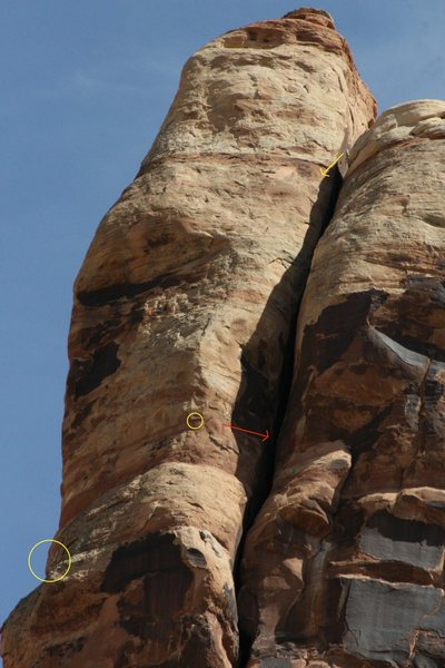 Rock Climbing Photo: Close up of the upper portion of the north face.  ...