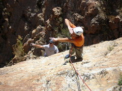 Rock Climbing Photo: Boissal and JG spot other, less worthy objectives.