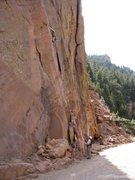 Rock Climbing Photo: Starting right off the road.  Boulders prevent car...