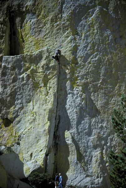 Rock Climbing Photo: JW on pitch 1