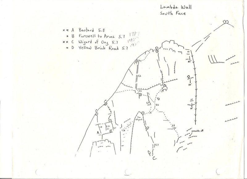Rock Climbing Photo: Lambda Wall South Face