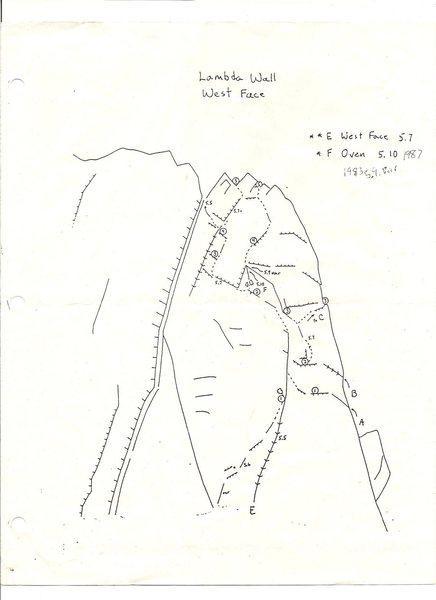 Lambda Wall West Face