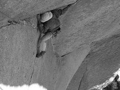 Rock Climbing Photo: Darshan on Romantic Warrior