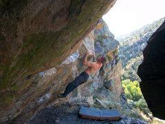 Rock Climbing Photo: Doug on Super Sloper!