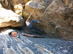 Rock Climbing Photo: Sub Atomic finish...little harder....