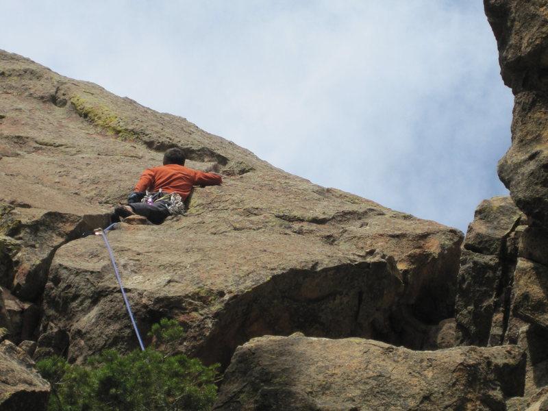 Rock Climbing Photo: Jesse Ramos working the crack on Duck, Duck, Goose...
