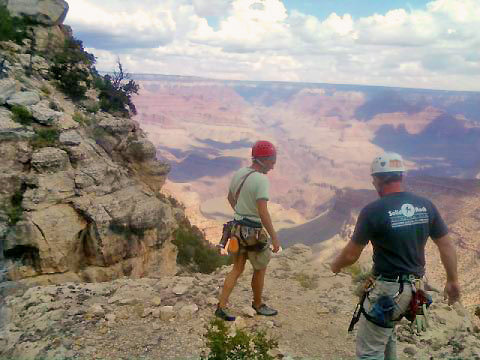 Steven and Matt at Grand Canyon climbing.