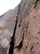 "Rock Climbing Photo: Ruper ""knee eating"" Crack"