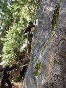 Rock Climbing Photo: Angela sending The Heart Arete v1