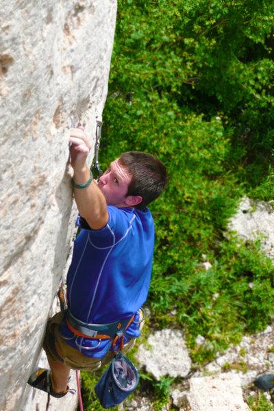 Rock Climbing Photo: Angus Bohanon, sending.