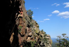 Rock Climbing Photo: Colin Cox on the FA of Snake Legs 5.11c, Balls Wal...