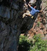 Rock Climbing Photo: Colin cruising Pop...
