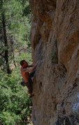 Rock Climbing Photo: Wade F. moving through it.