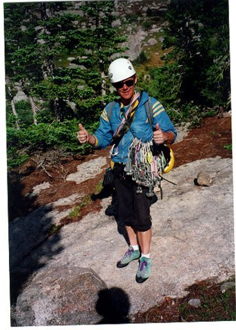 Dave Rone after descent from Mitchell Peak Wind River Range Wyoming.