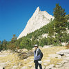 Jerry Wingenter on approach to Cathedral Peak Toulome Meadows Yosemite 02.