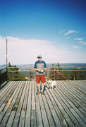 Rock Climbing Photo: Brent Kertzman and Tico up at Teary Peak look-out ...