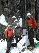 Rock Climbing Photo: Eric, Dave, and Tom at base of Getting Oriented Ka...
