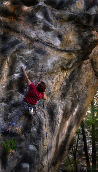 Rock Climbing Photo: Luke Childers making the warm-up on-sight of the c...