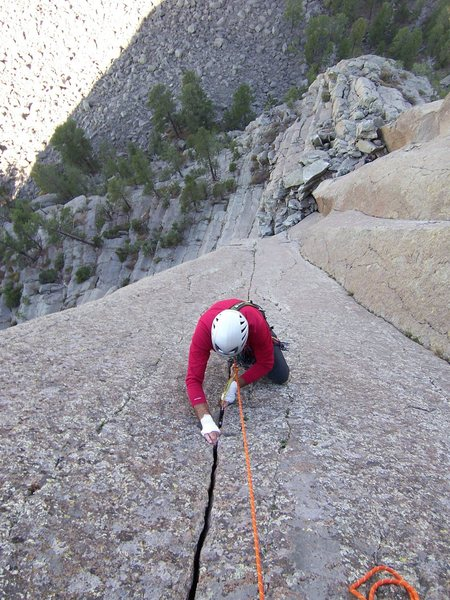 Rock Climbing Photo: Solid jams and poor feet make a great ending to th...
