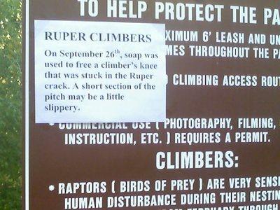 Rock Climb Ruper Eldorado Canyon SP - 24 times people followed instructions way literally 6 cracked