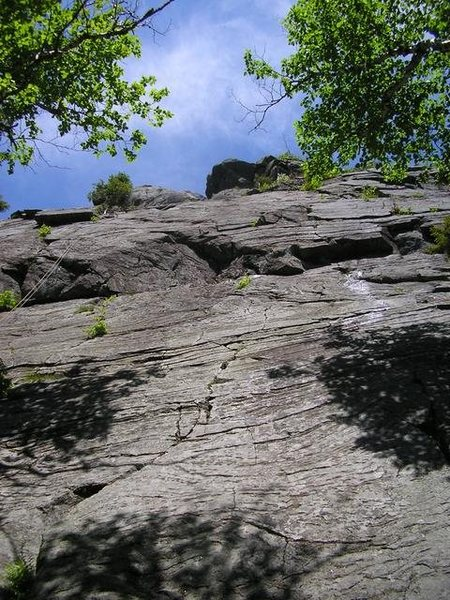 Rock Climbing Photo: This is the 1st pitch of (I think) the AMC route. ...