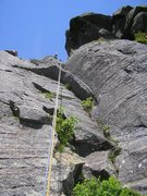 Rock Climbing Photo: This is the top part of the 2nd pitch of (I think)...