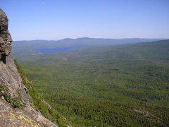Rock Climbing Photo: View from the climbs on Tumbledown.