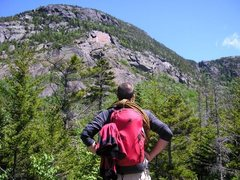 Rock Climbing Photo: The view approaching the AMC Route area of Tumbled...