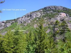 Rock Climbing Photo: Approach beta for the climbs on Tumbledown.  This ...