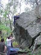 Rock Climbing Photo: Dobbe pressing it out.