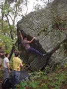 Rock Climbing Photo: Gabe hitting the pop!