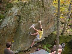 Rock Climbing Photo: Dobbe getting into it.