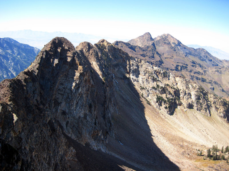 Rock Climbing Photo: From the summit of Monte Cristo looking ahead - th...
