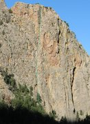 Rock Climbing Photo: North Summit Direct (5.8), The Thumb, Sandia Mount...