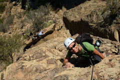 Rock Climbing Photo: Francine Beattie climbs Rational Expectations, at ...