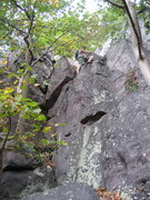 Rock Climbing Photo: P2 The way I like to climb this pitch - very easy ...