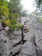 Rock Climbing Photo: P3 The inside corner is easy on this pitch - the 5...
