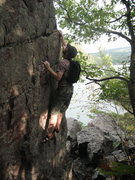 Rock Climbing Photo: P6 I like to do the corner left of the 5.4 crack o...