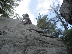 Rock Climbing Photo: P7 - the double cracks to the left are really fun-...