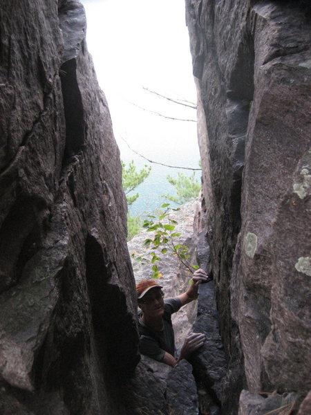 Rock Climbing Photo: Magic Ed likes the solid rock - been climbin' the ...