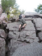 Rock Climbing Photo: The final pitch if you use the Turks Head chimney ...