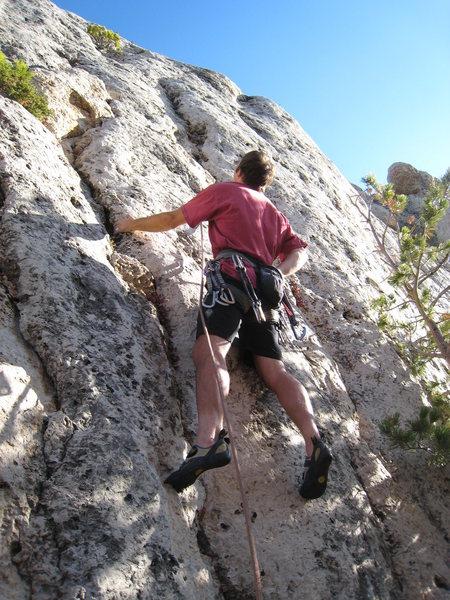 Rock Climbing Photo: Beginning up the fun Ryobi Jr.