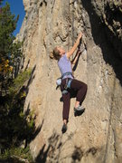 Rock Climbing Photo: Starting up the easy slab.