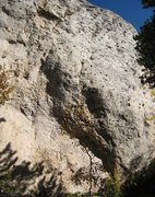 Rock Climbing Photo: War Paint is the line on the right, attacking the ...