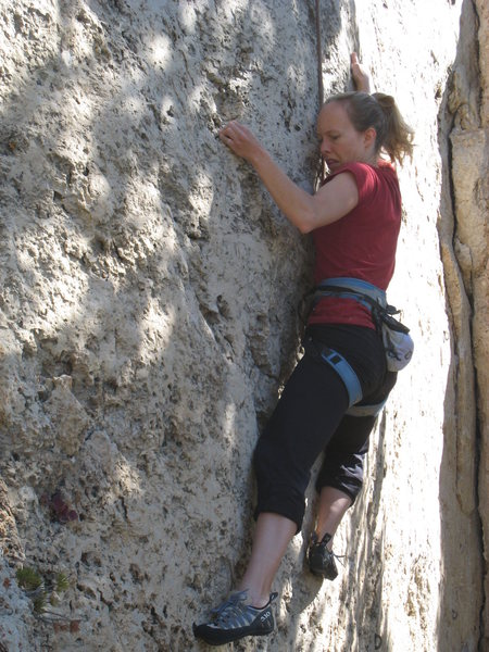 Rock Climbing Photo: In the middle of the crux section.