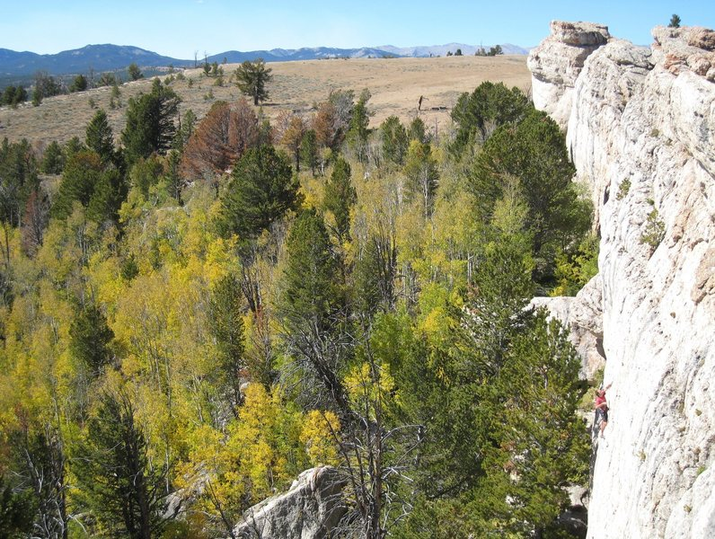 """Rock Climbing Photo: Enjoying the excellent moderate """"Hip Boot Rom..."""
