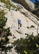 Rock Climbing Photo: Enjoying the excellent headwall of Caballero...