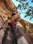 Rock Climbing Photo: Larry on Pitch 2.